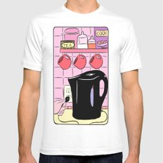 Making Tea: Plug In Your Kettle MEDIUM Mens Fitted Tee White