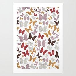 Panapaná II - Butterflies Art Print