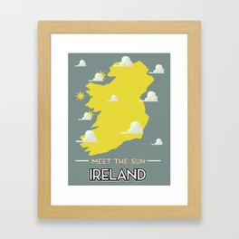 Meet the Sun - Ireland Framed Art Print