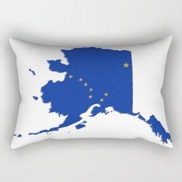 Alaska Map with Alaskan Flag Rectangular Pillow
