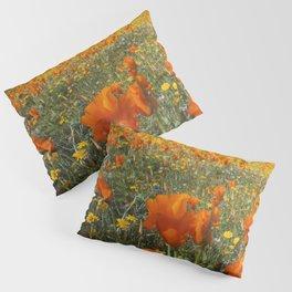 California Wildflower Poppy Superbloom Pillow Sham