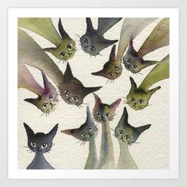 Kessells Whimsical Cats Art Print