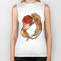 lions Biker Tanks featuring Lions by madbiffymorghulis