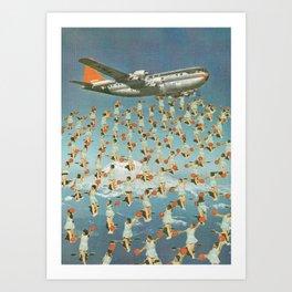 Drop Cheerleaders Art Print
