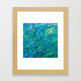 Shades Of Blue Waterfall Framed Art Print