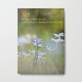Leaping Lillies Metal Print