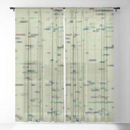 Pixelmania XI (color version) Sheer Curtain