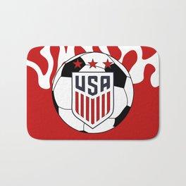 United States Soccer Bath Mat