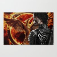 katniss Canvas Prints featuring Katniss by MetaWorks