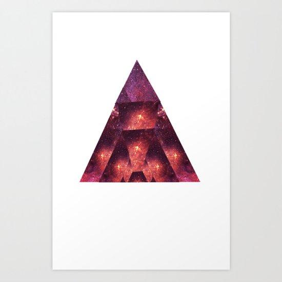 Space Trigon Art Print