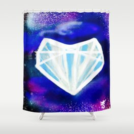 Hearts or Diamonds, I'll Take Diamonds Shower Curtain