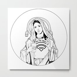Millennial Mother Mary Metal Print