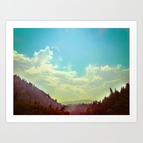 Sky Mountain Art Print