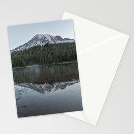 Sunrise at Reflection Lake - Mount Rainier Vertical Stationery Cards