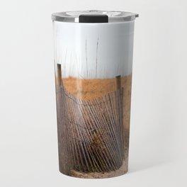 Wooden Sand Fence Travel Mug