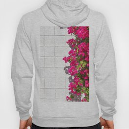 Bougainvilleas and White Brick Wall in Palm Springs, California Hoody