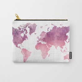 Pink Map Carry-All Pouch