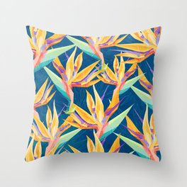 Strelitzia Pattern Throw Pillow
