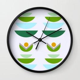 Minimal modern flowers Wall Clock