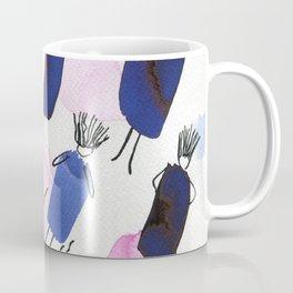 Free falling of the girls in the bright blue garments Coffee Mug