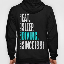 Diver Eat Sleep Diving Repeat Since 1996 Gift Hoody