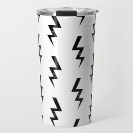 Bolts lightning bolt pattern black and white minimal cute patterned gifts Travel Mug