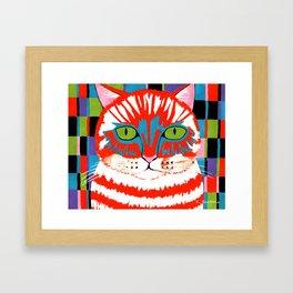Bad Cattitude - Cats Framed Art Print