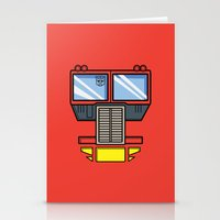 optimus prime Stationery Cards featuring Transformers - Optimus Prime by CaptainLaserBeam