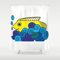 marine Shower Curtains featuring Marine by yisuen