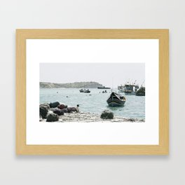 fisherman's dog Framed Art Print