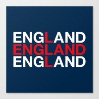 england Canvas Prints featuring ENGLAND by eyesblau
