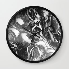 Melt - Asphalt Wall Clock