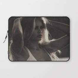 Brigitte Bardot on the French Riviera, Côte d'Azur, France black and white photography Laptop Sleeve