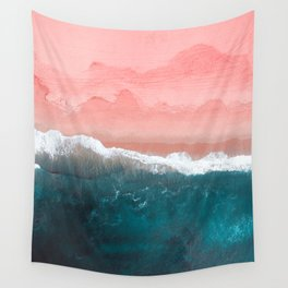 Turquoise Sea Pastel Beach II Wall Tapestry