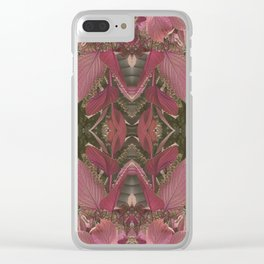 Red Shiso Warm Tones Pattern Clear iPhone Case