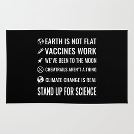 Stand up for science Rug