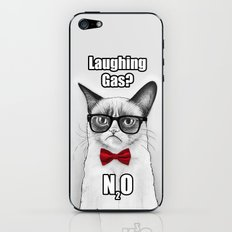 Grumpy Chemistry Cat iPhone & iPod Skin