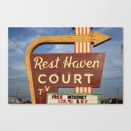 Route 66 - Rest Haven Motel 2010 Canvas Print