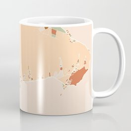 HONOLULU HAWAII CITY MAP EARTH TONES Coffee Mug