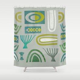 Green bits Shower Curtain
