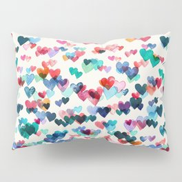 Heart Connections - watercolor painting Pillow Sham