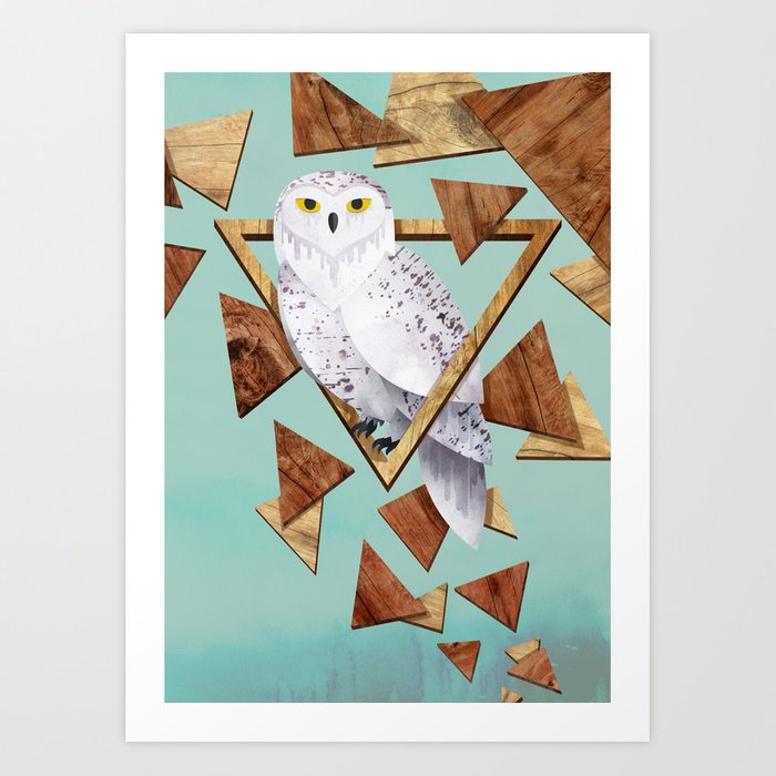 Owl in the Woods Art Print