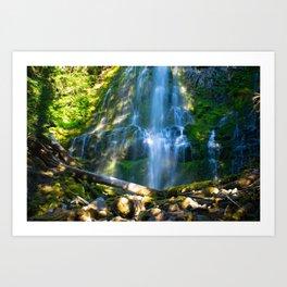 Proxy Falls - Waterfall In Oregon Art Print
