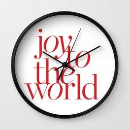 joy in white Wall Clock