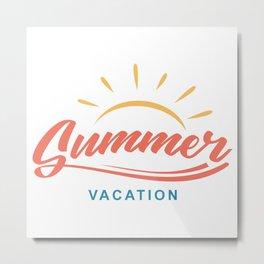 Summer Vacation Metal Print