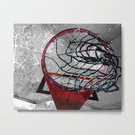 Basketball art swoosh vs 3 Metal Print