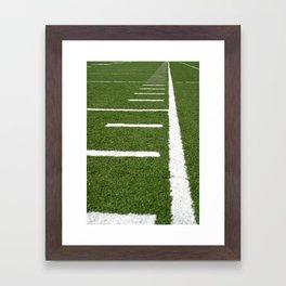 Football Lines Framed Art Print