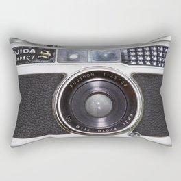 Vintage film camera Fujica Compact 1 Rectangular Pillow