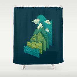 How to Build a Landscape Shower Curtain