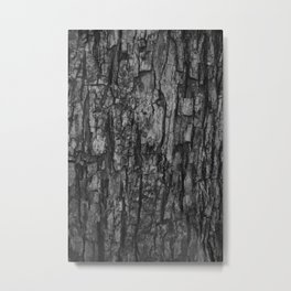 Bark VI Monochrome Metal Print